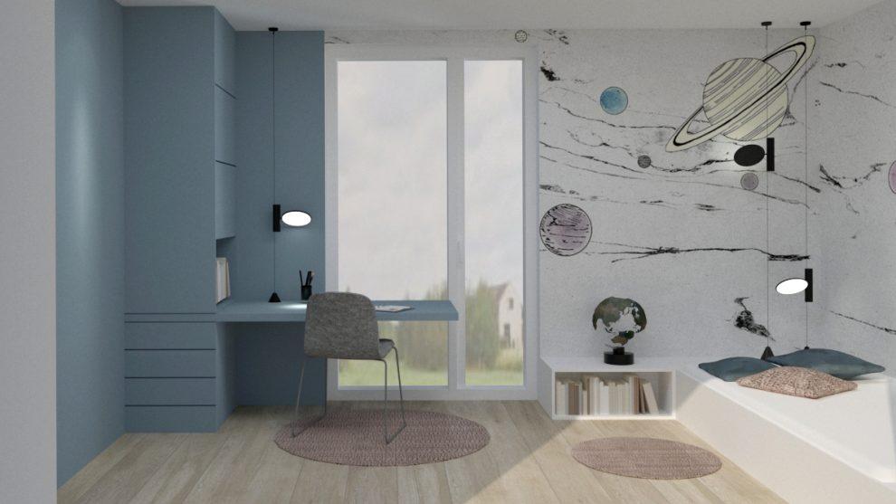 Pokój dla miłośniczki kosmosu